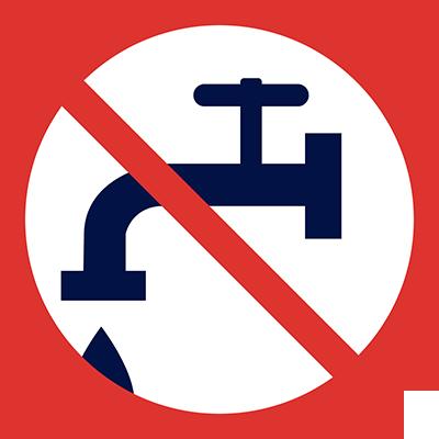 Zakaz lania wody ikona