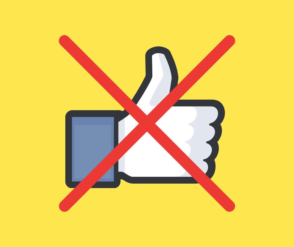 lajk na facebooku skreślony